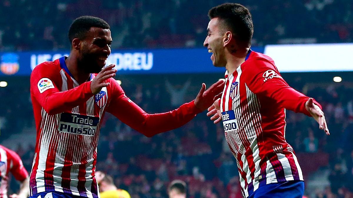 Lemar y Correa, en un partido del Atlético. (Getty)