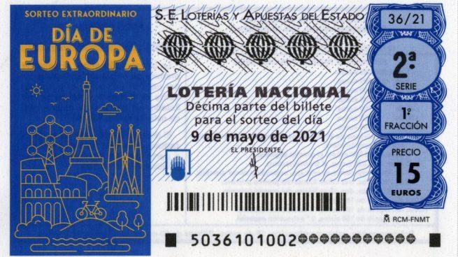 Sorteo Extraordinario del Día de Europa de la Lotería Nacional