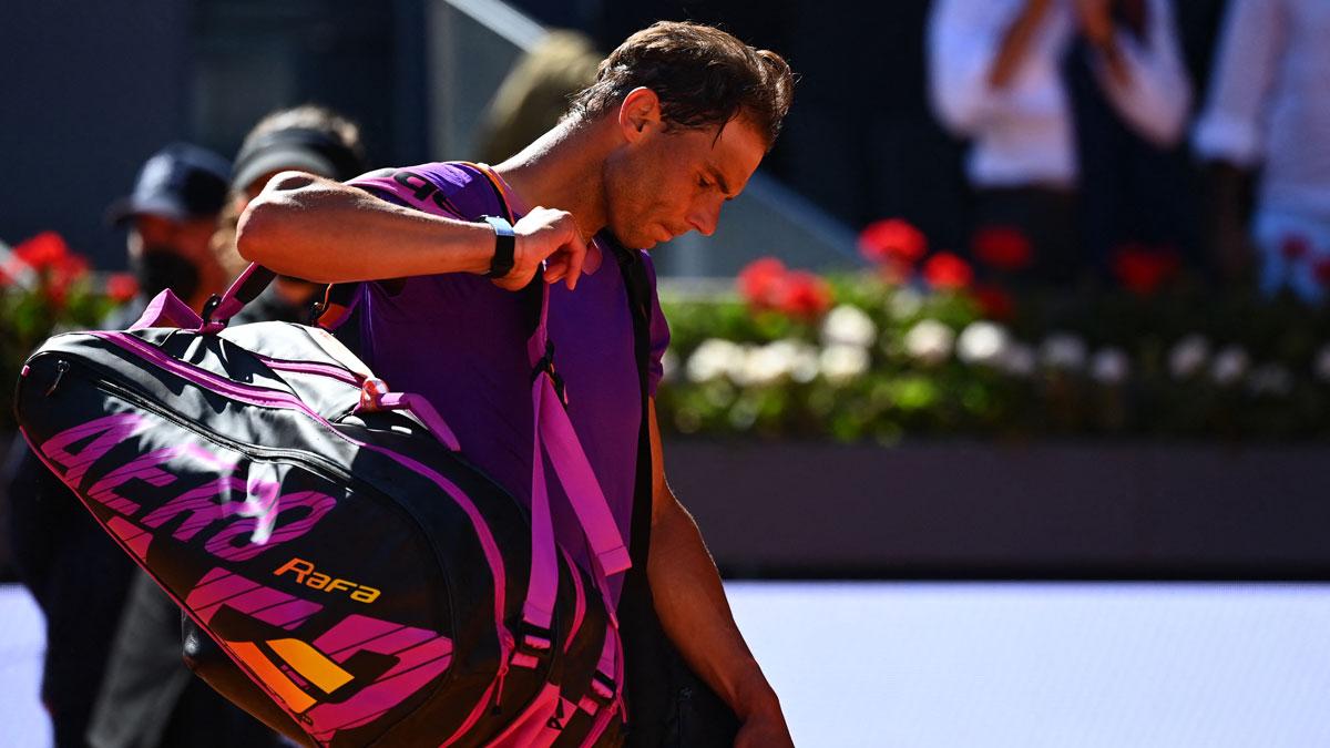 Rafa Nadal se despide del Mutua Madrid Open tras caer en cuartos de final (AFP)