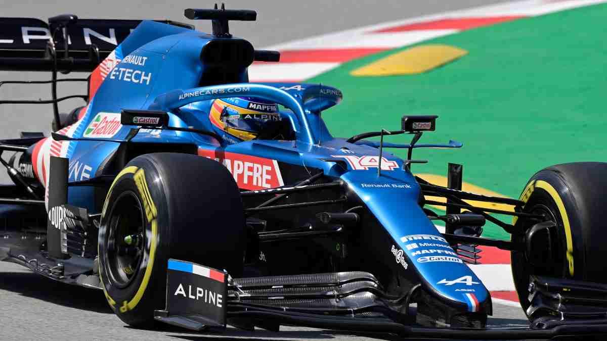 Fernando Alonso en la sesión de clasificación del Gran Premio de España de Fórmula 1 (AFP)