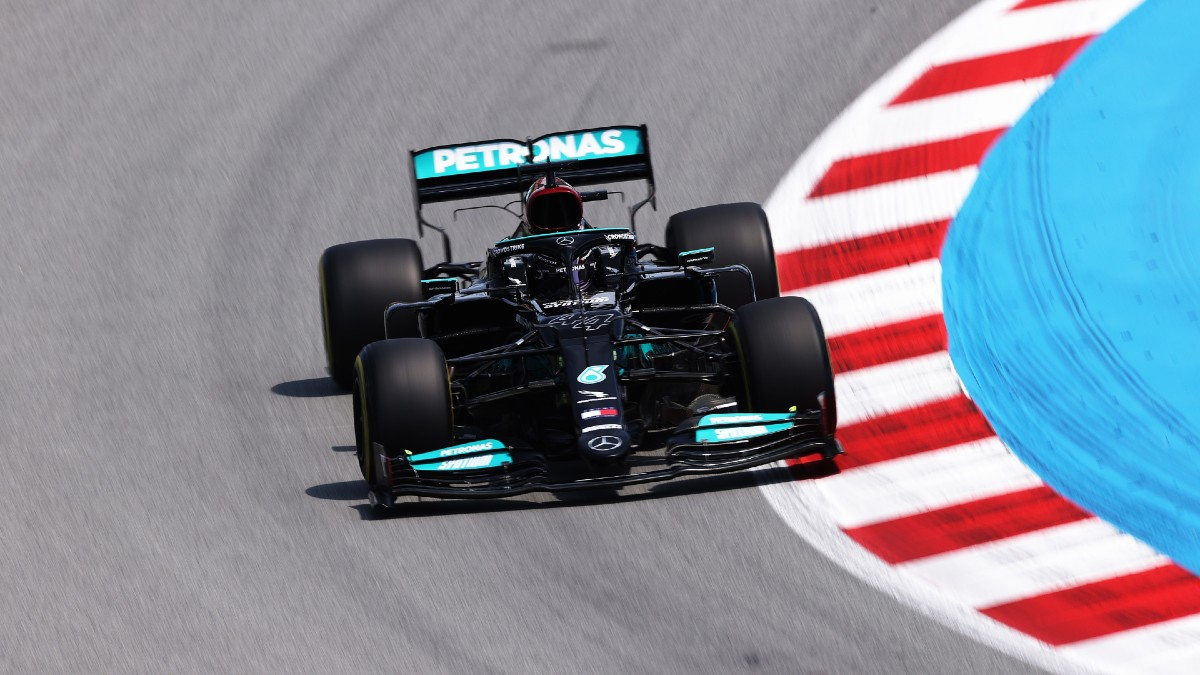Lewis Hamilton logró su pole número 100 en el Gran Premio de España. (Getty)