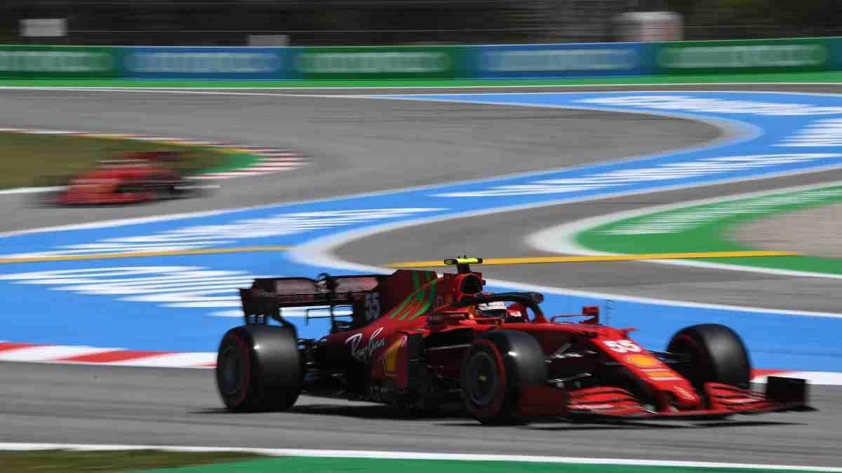 Carlos Sainz en el Gran Premio de España de Fórmula 1. (AFP)