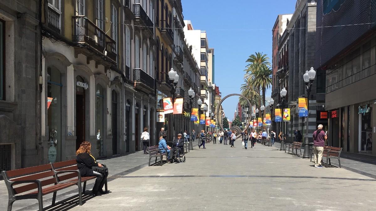 Calle Triana de Las Palmas de Gran Canaria.
