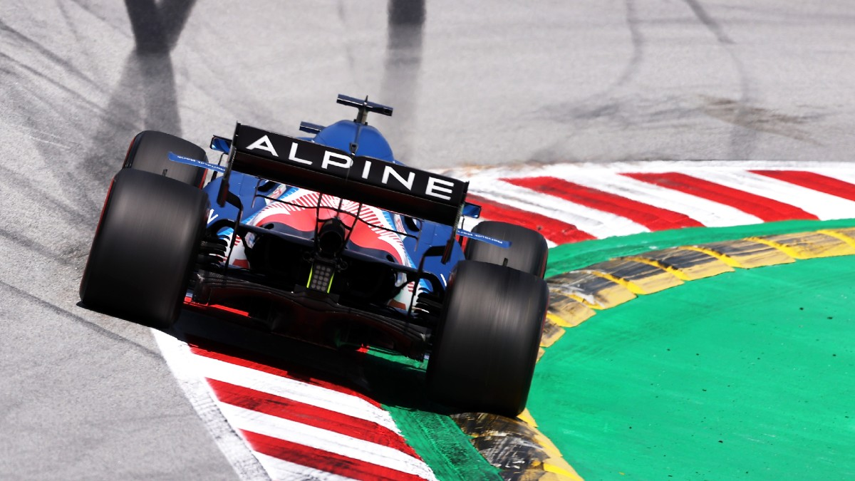 El Alpine de Fernando Alonso, en la clasificación del Gran Premio de España. (Getty)