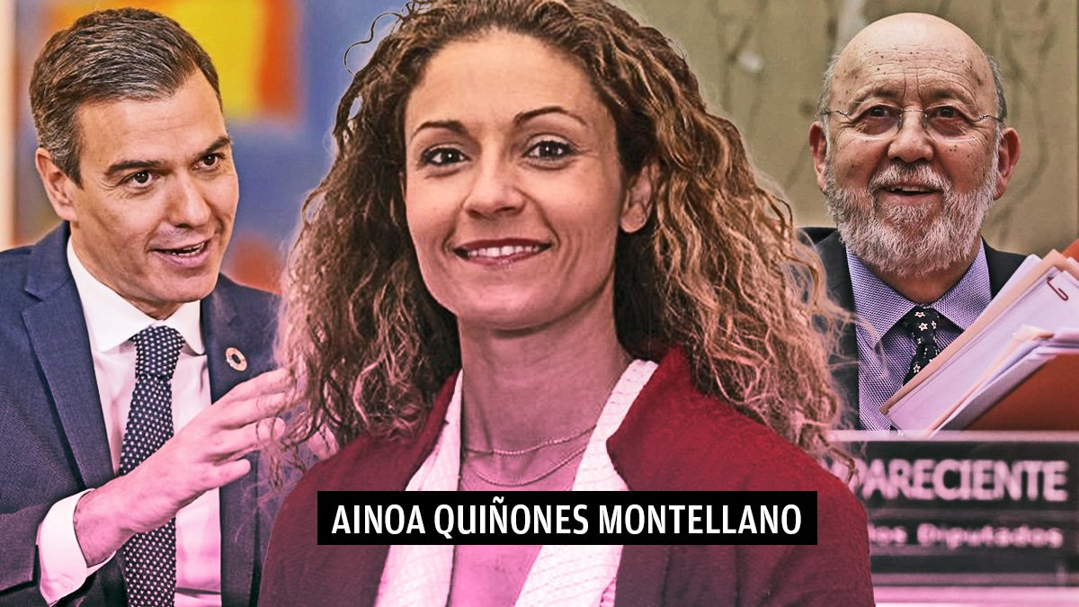 Pedro Sánchez, Ainoa Quiñones Montellano y José Félix Tezanos.