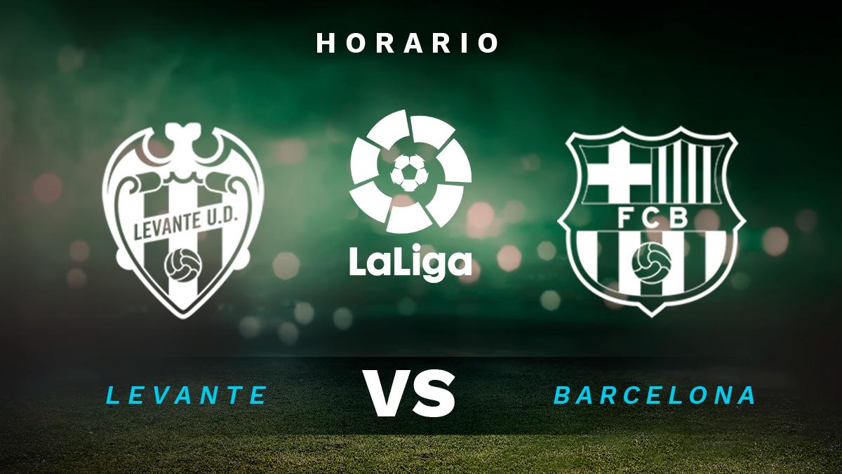 Liga Santander 2020-2021: Levante – Barcelona | Horario del partido de fútbol de la Liga Santander.