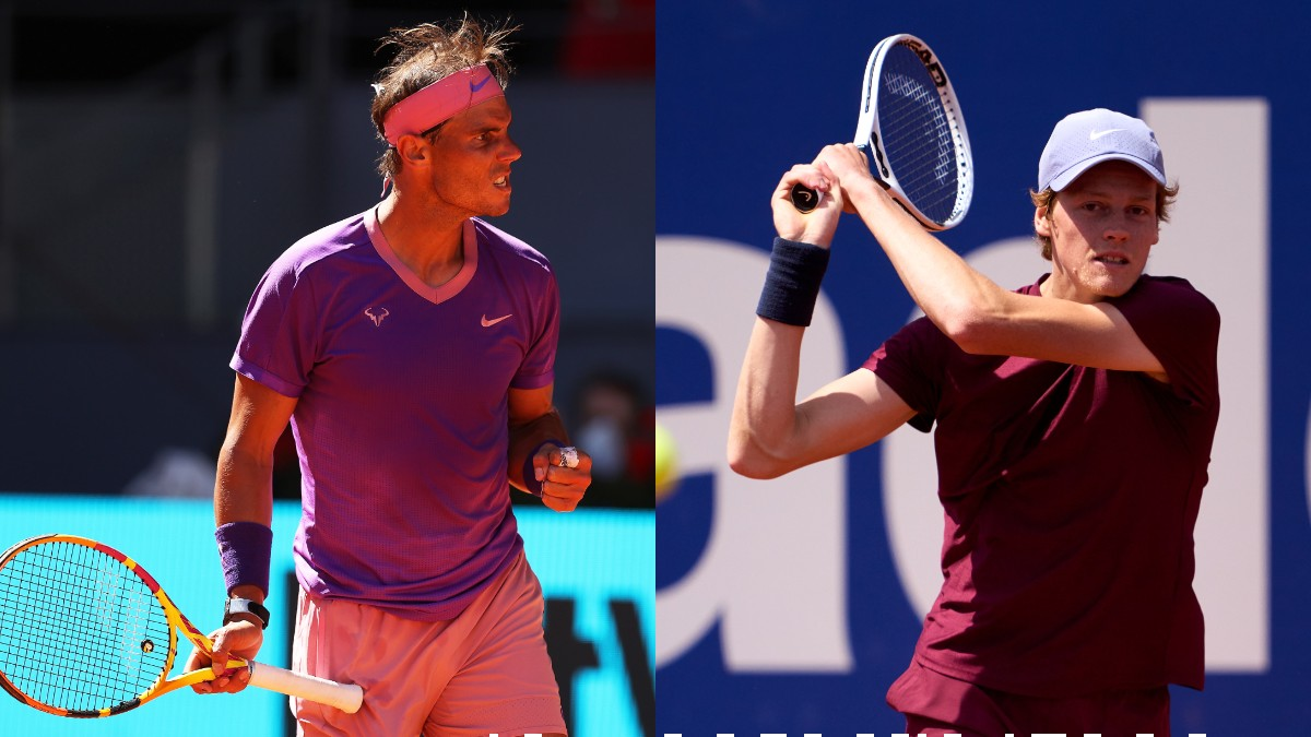 Rafael Nadal y Jannik Sinner. (Getty)