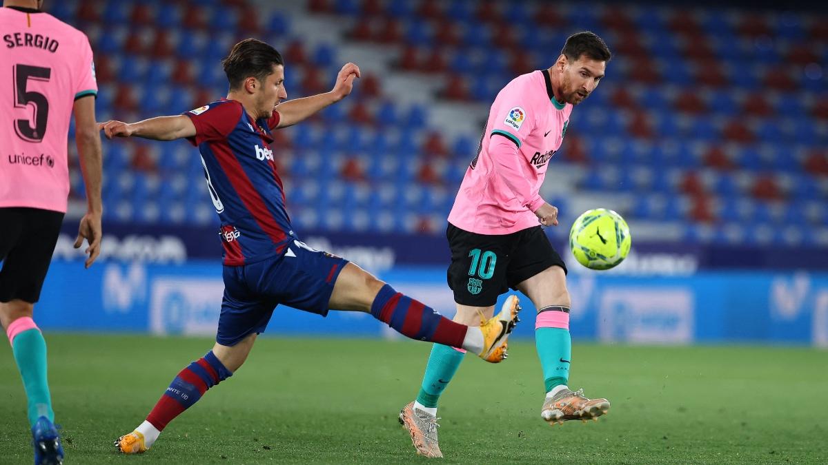 Liga Santander 2020-2021 | Levante – Barcelona, en directo. (AFP)