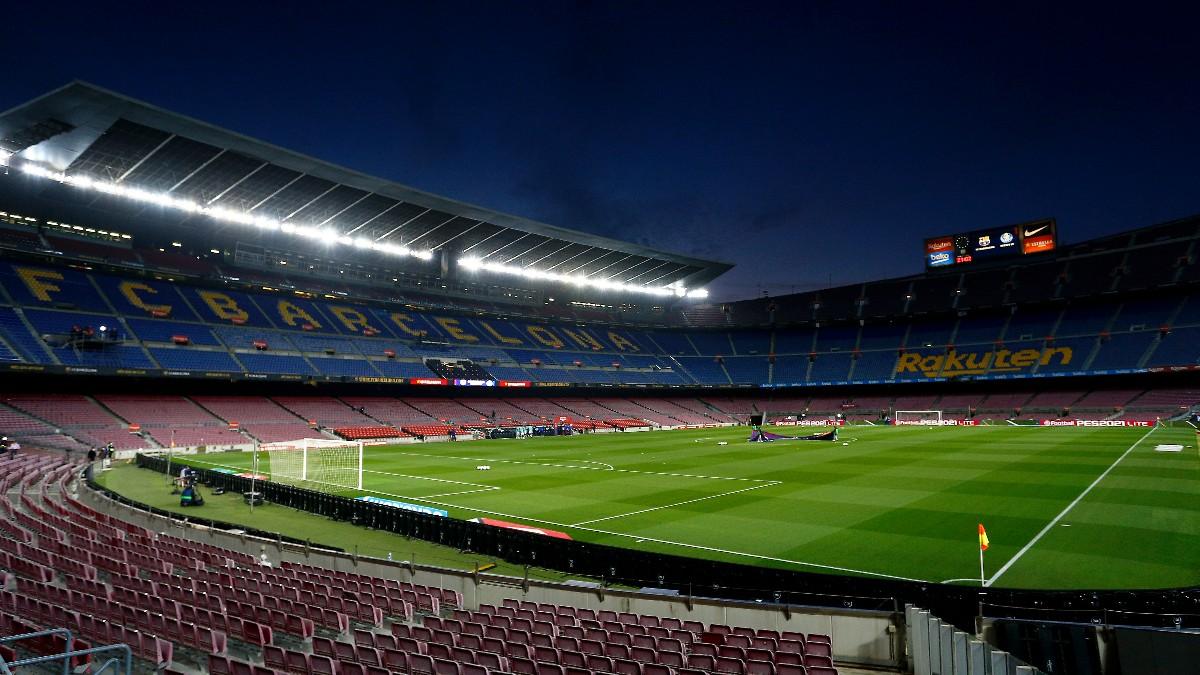 El Camp Nou durante un partido de la Liga Santander. (Getty)
