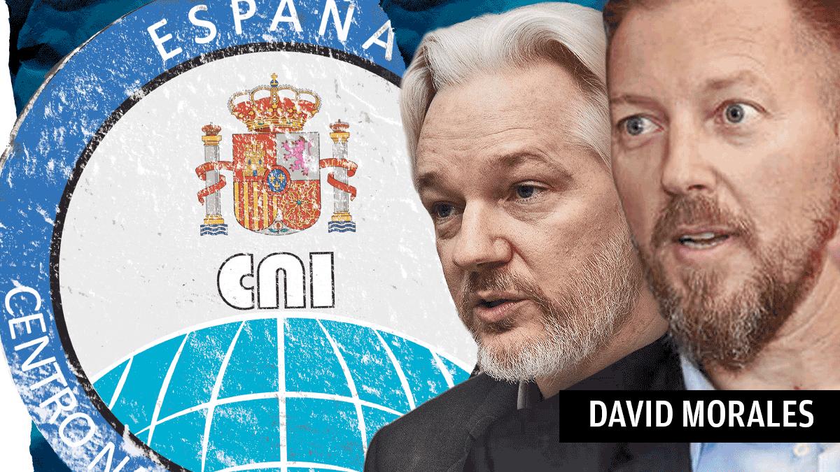 El fundador de WikiLeaks, Julian Assange, y el ex militar David Morales.