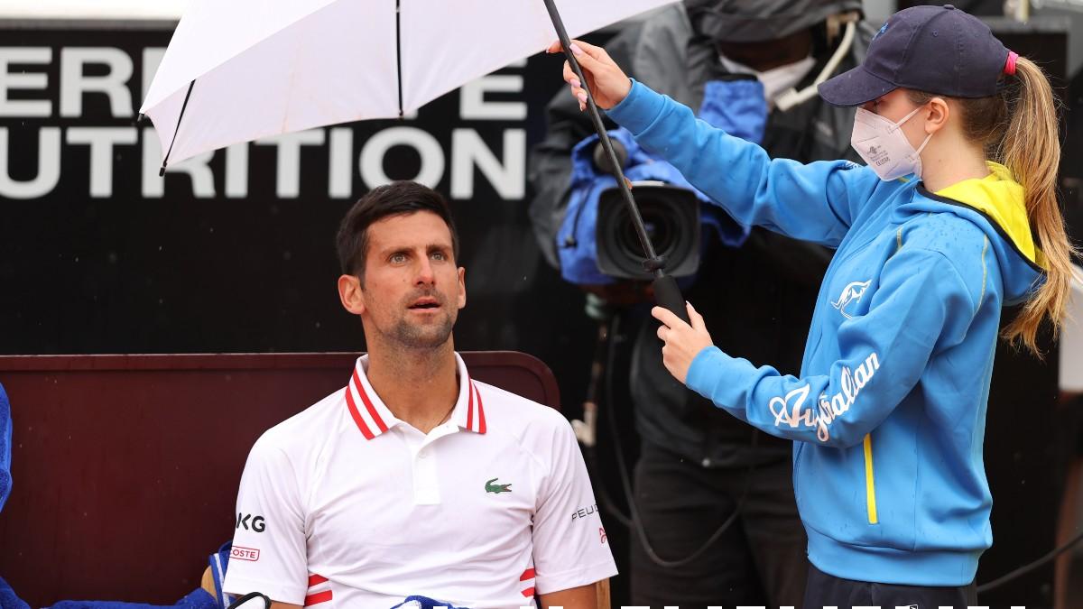 Djokovic, en su debut en Roma. (Getty)