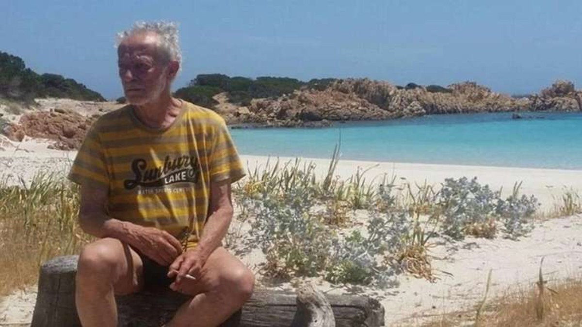 Mauro Morandi en su isla desierta