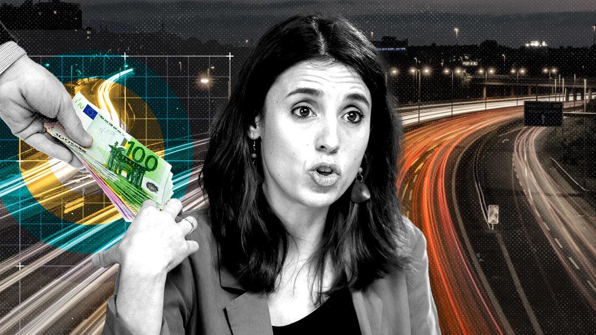 Irene Montero maneja en subvenciones el mismo dinero que cuesta mantener la autovía Madrid-Valencia.