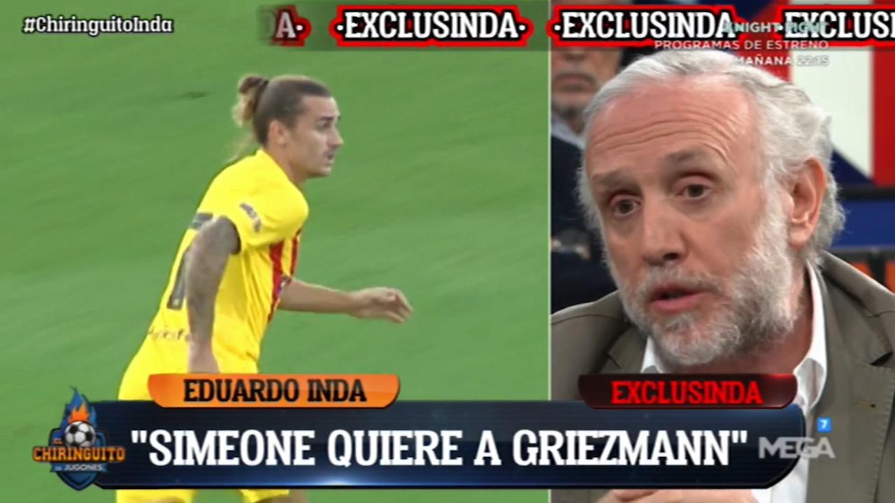 Eduardo Inda adelantó el 11 de mayo que Simeone pidió la vuelta de Griezmann al Atlético.