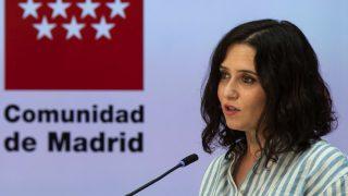 """Isabel Díaz Ayuso acusa a Pedro Sánchez de no aceptar """"el resultado de las urnas"""" con su criminalización de Madrid."""