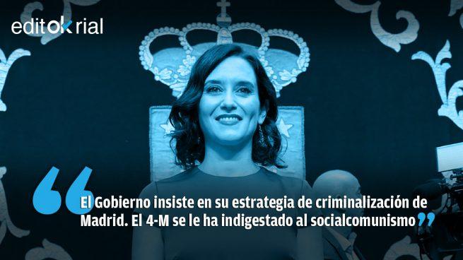 Sánchez sufre un ataque de 'ayusitis': ya no es que mienta, sino que delira