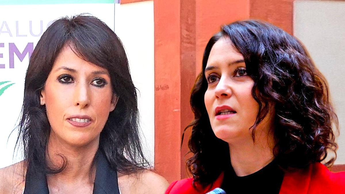 Martina Velarde e Isabel Díaz Ayuso.