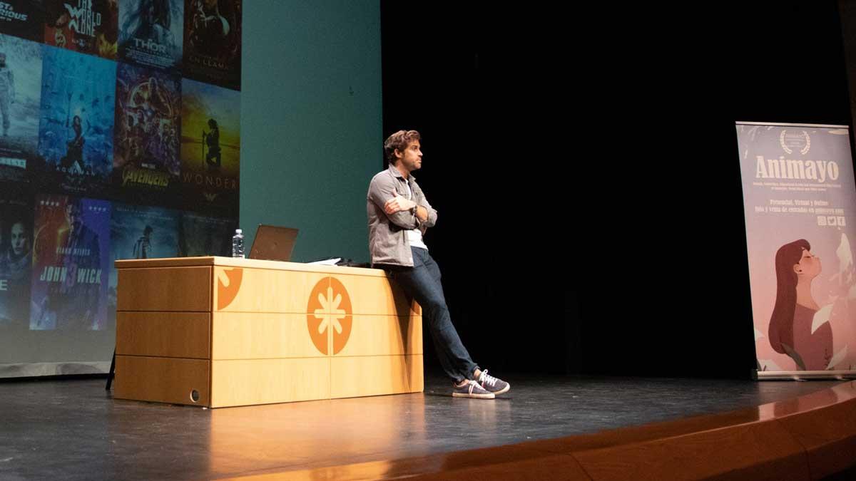 Ignacio Caicoya, CEO del estudio de efectos especiales Iro Pictures, durante una masterclass en Animayo Gran Canaria 2021.