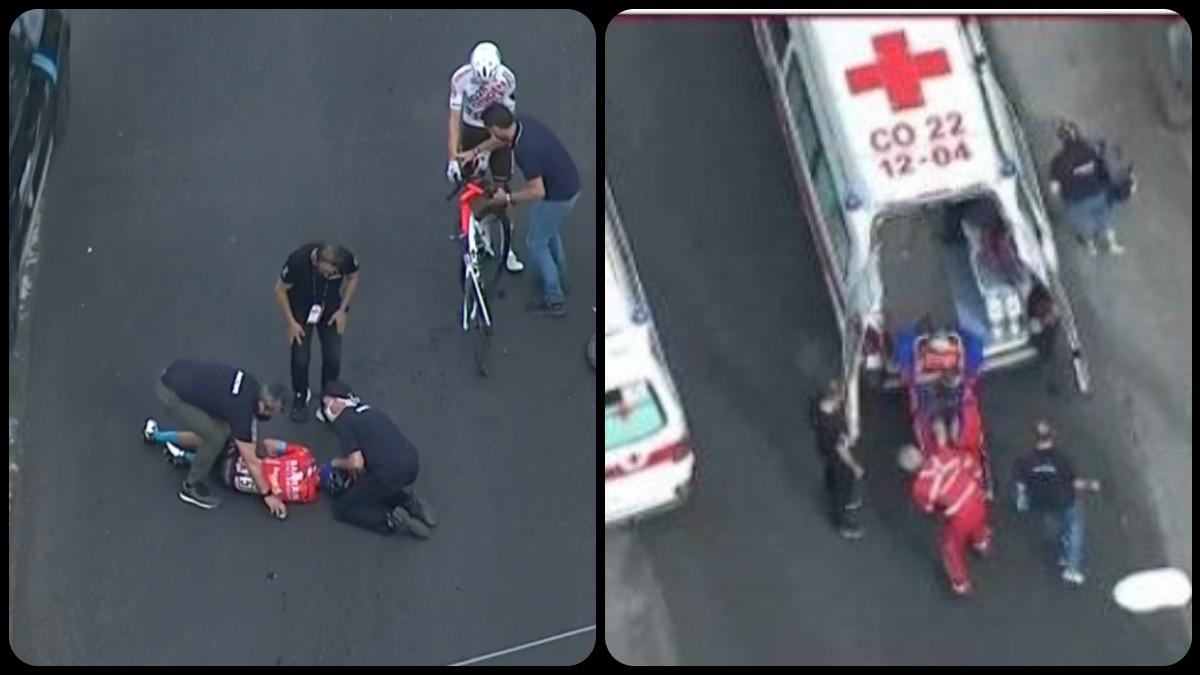 La grave caída de Landa en el Giro.