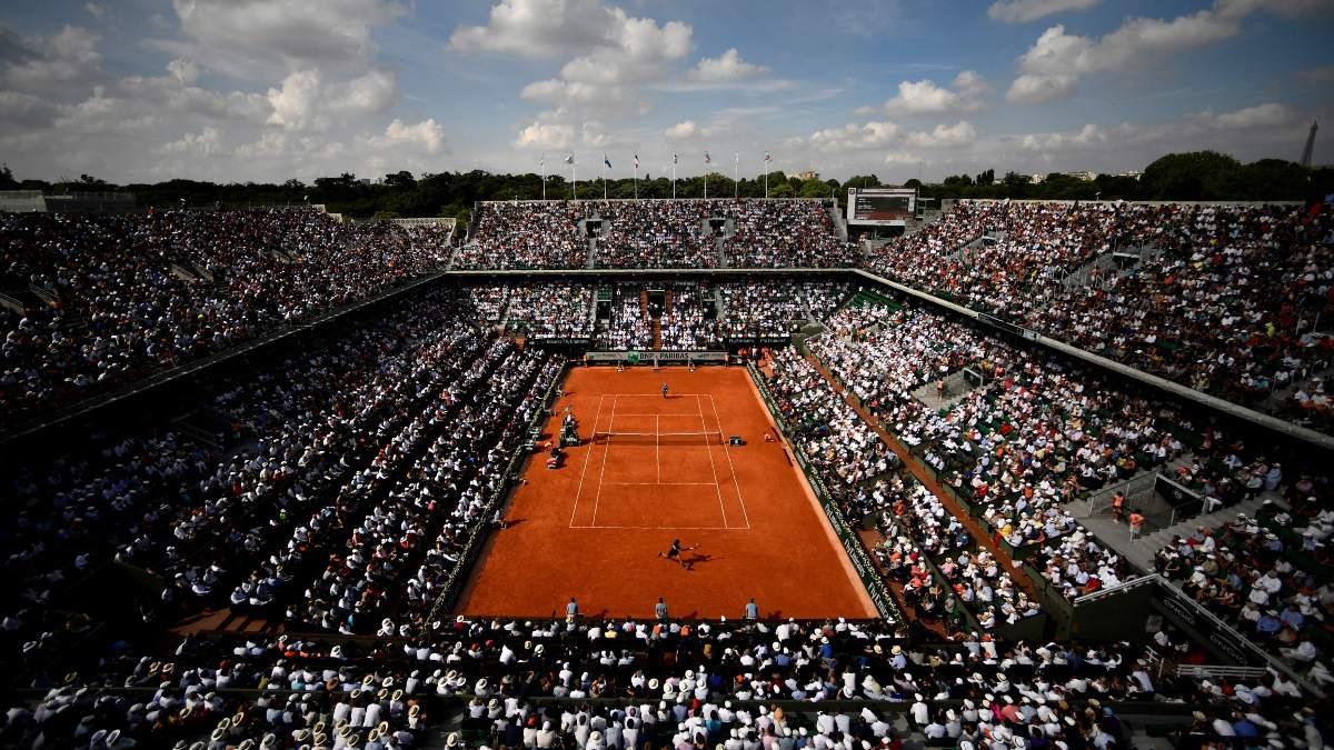 El estadio de Roland Garros durante un partido. (AFP)