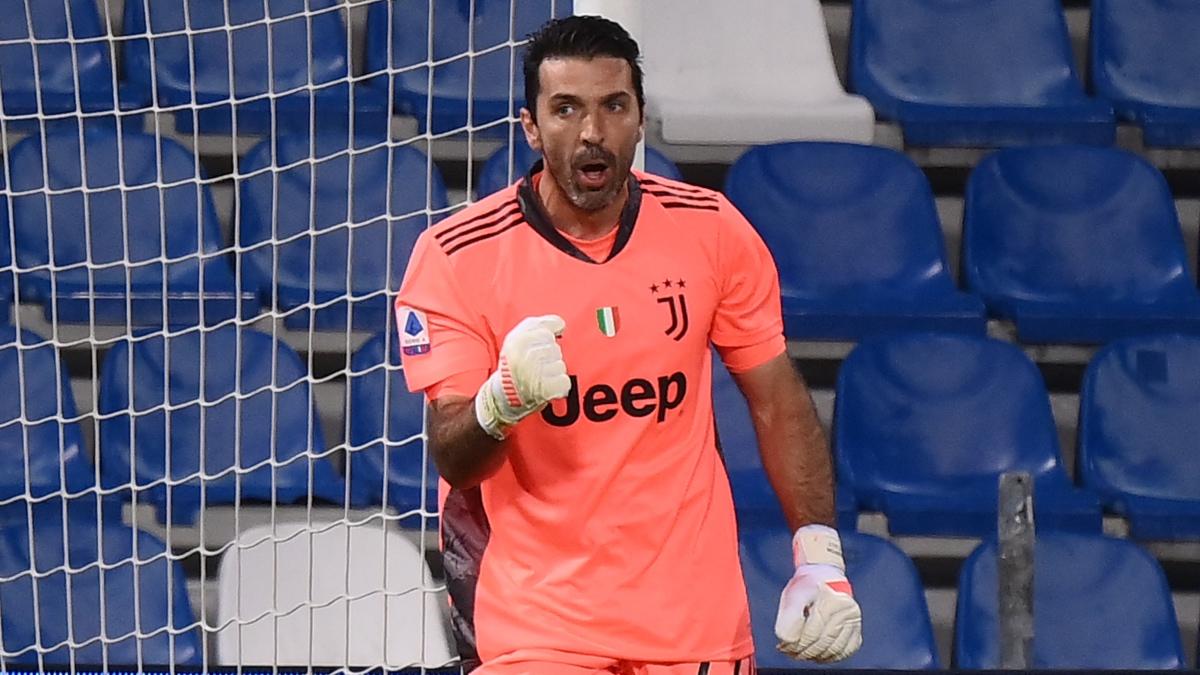 Buffon, durante su último partido con la Juventus. (AFP)