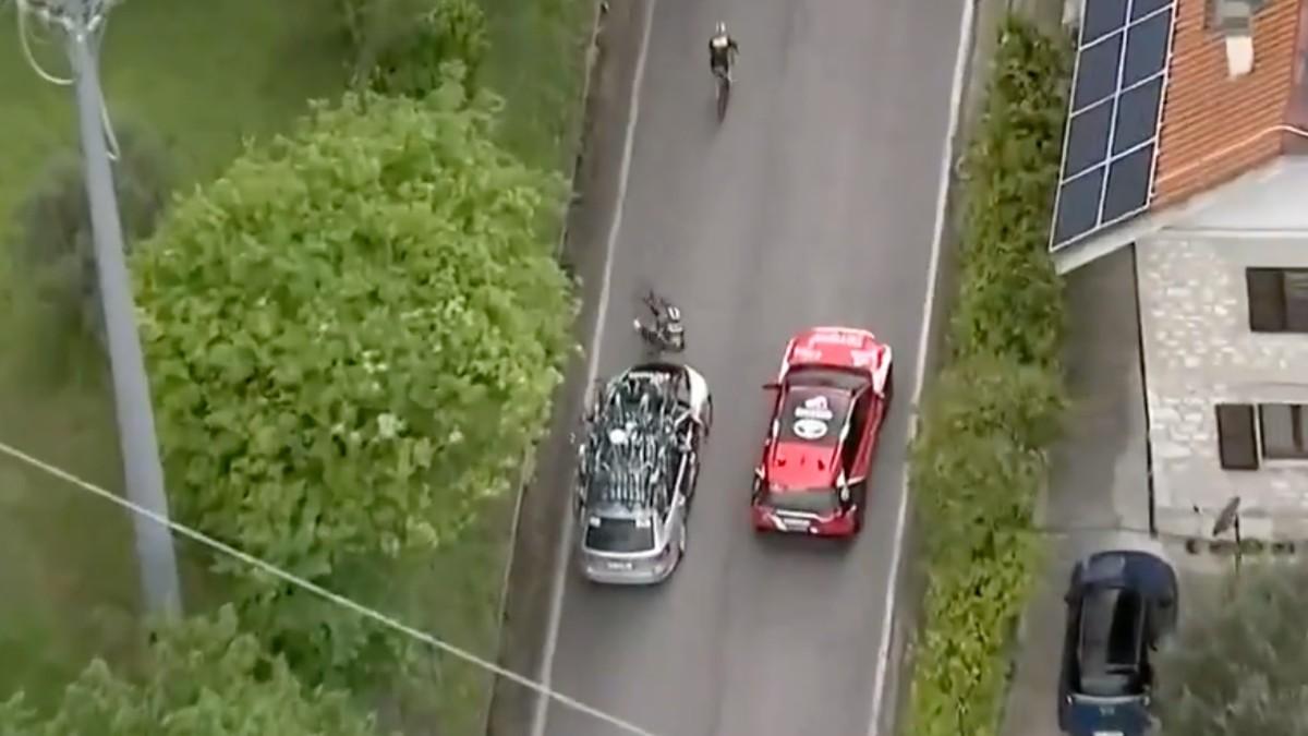 Atropello Giro de Italia.