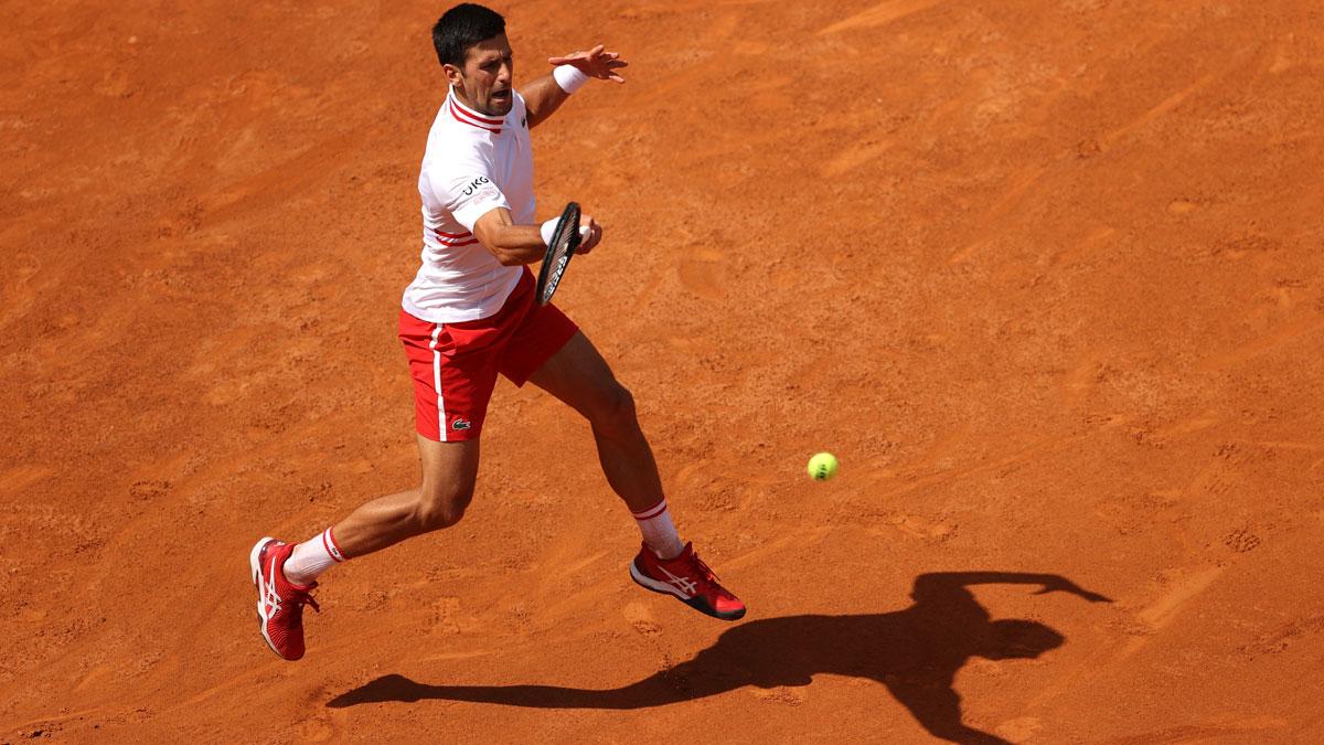 Djokovic, durante su encuentro ante Davidovich en Roma (Getty)