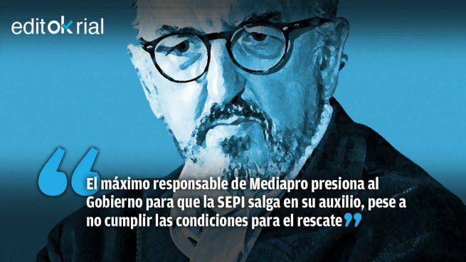 Roures se ofrece a Sánchez a cambio de que el Gobierno le salve de la quiebra