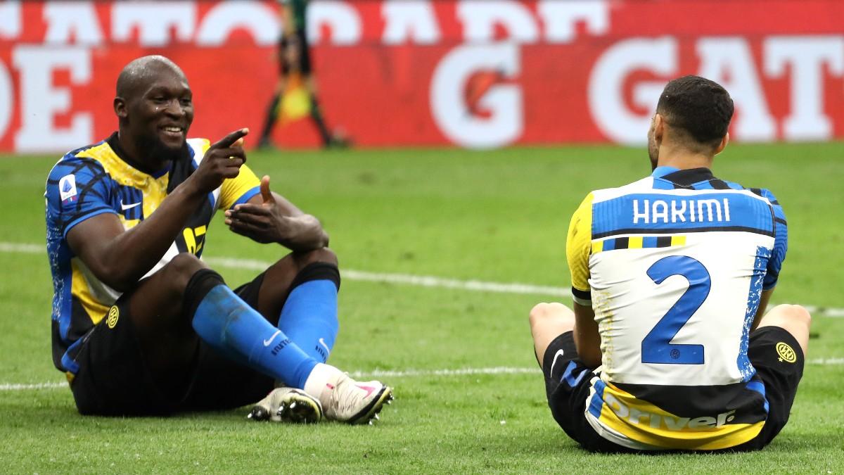 Lukaku y Achraf en el último partido del Inter (Getty)