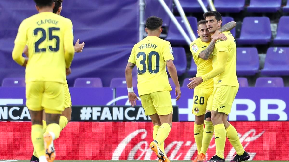 Gerard Moreno celebra su tanto ante el Villarreal. (Getty)