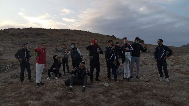 Inmigrantes ilegales llegados este fin de semana a Almería.