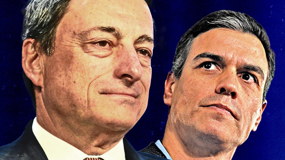 Mario Draghi y Pedro Sánchez