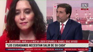 La nueva líder española Isabel Díaz Ayuso con Eduardo Feinmann en LN .mp4.00_17_10_29.Imagen fija001