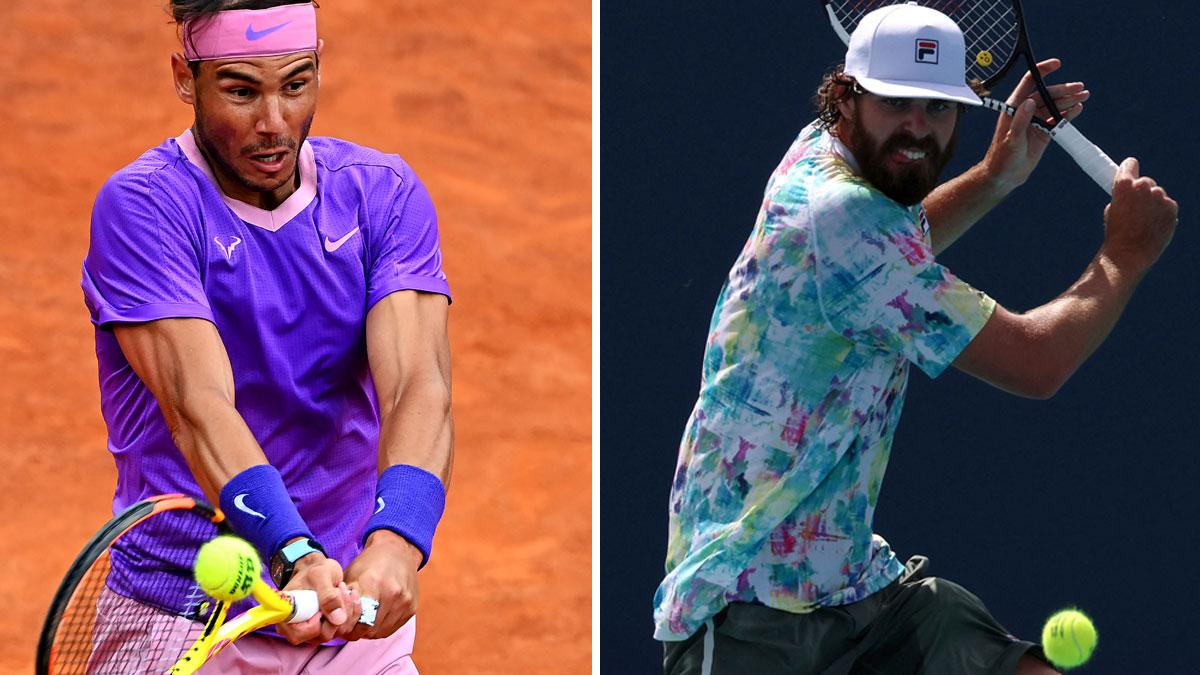 Nadal y Opelka se miden en semifinales de Roma este sábado 15 de mayo (AFP)