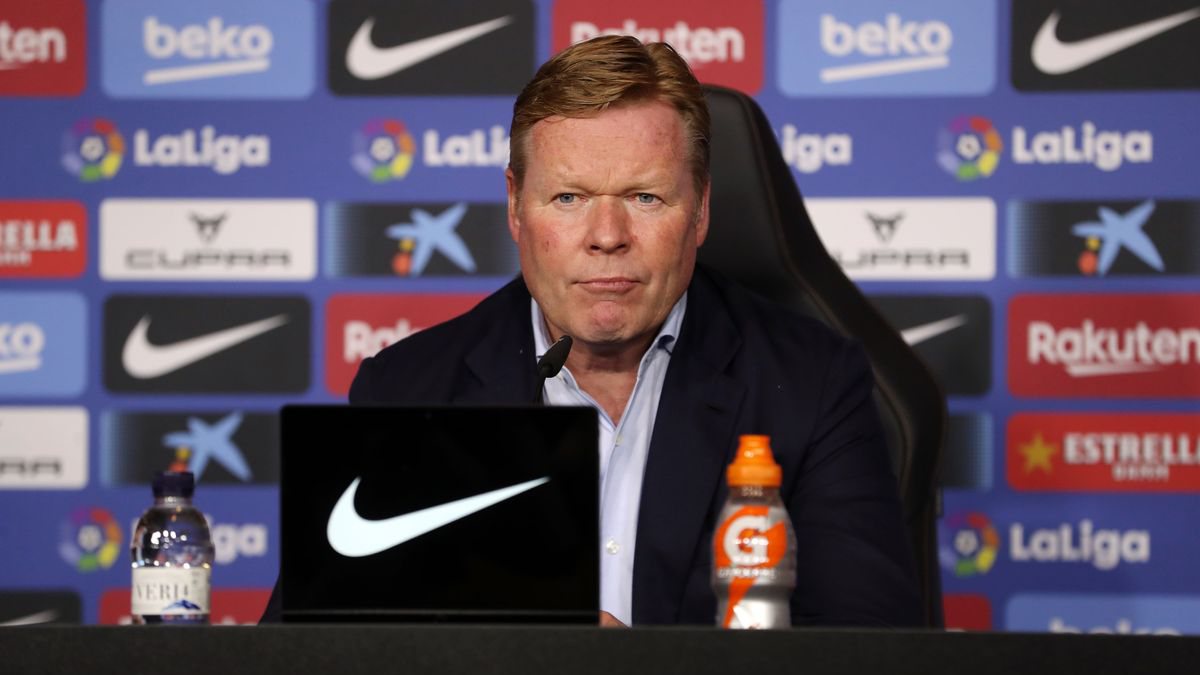 Ronald Koeman durante una rueda de prensa. (FC Barcelona)