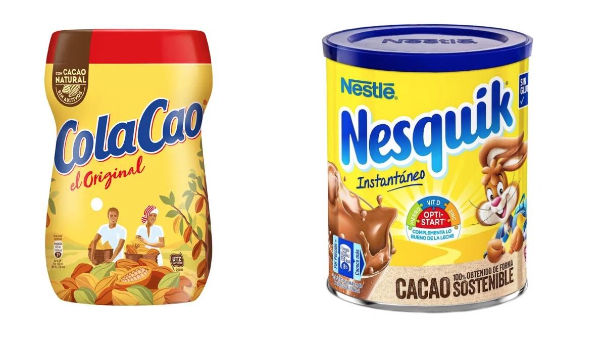 Cola Cao y Nesquik