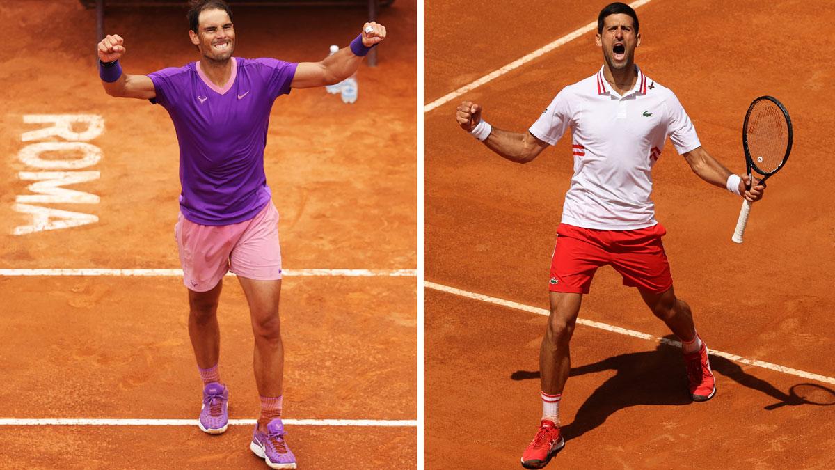 Nadal y Djokovic se enfrentan por sexta vez en la final de Roma