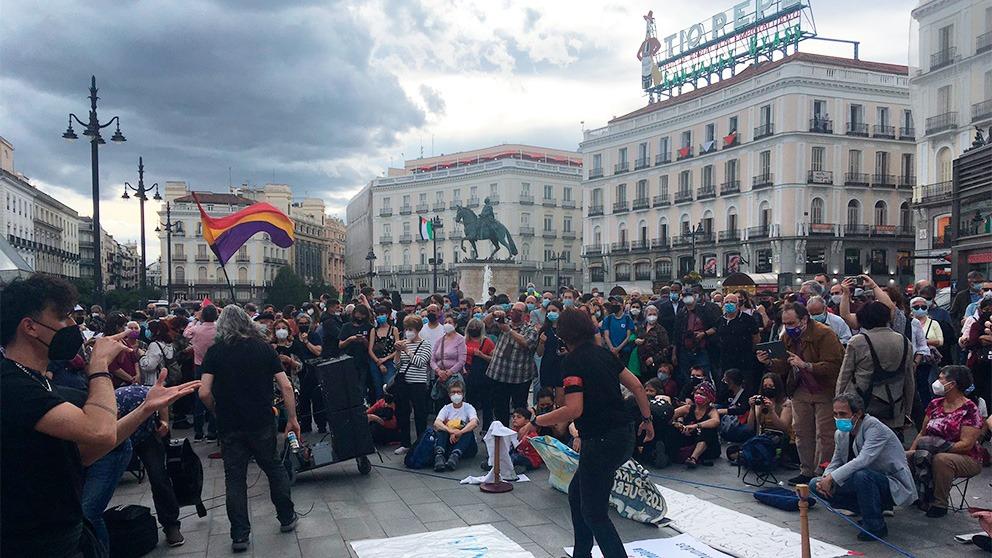 Imagen de la Puerta del Sol en el décimo aniversario del 15M. (Foto: Francisco Toledo)