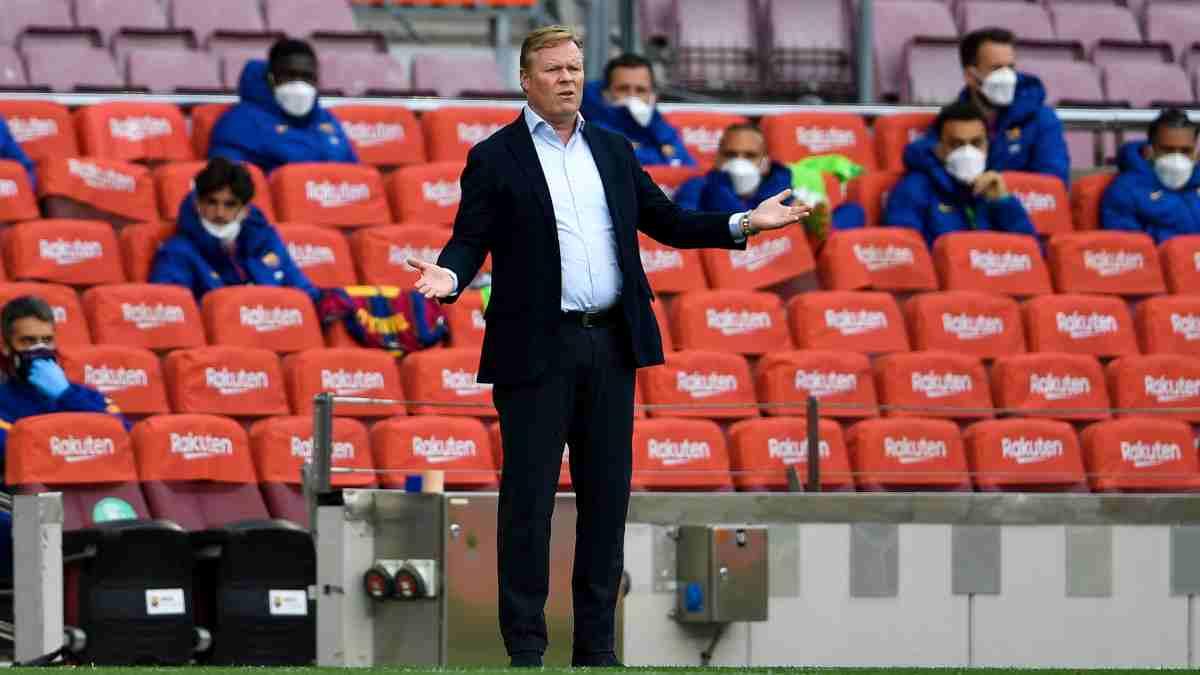 Ronald Koeman, entrenador del Barcelona frente al Celta de Vigo. (AFP)