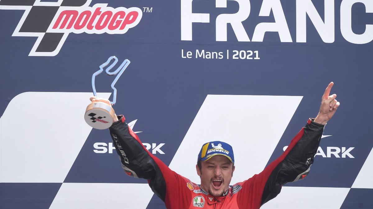 Jack Miller celebra su triunfo en el GP de Francia. (AFP)