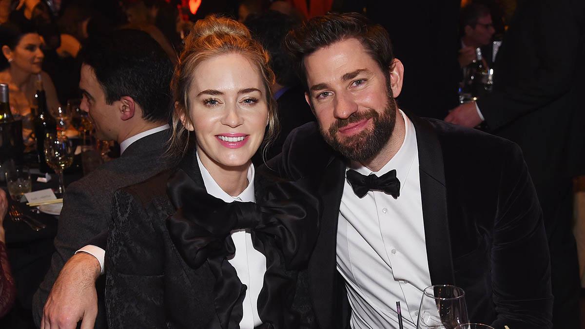John Krasinski y Emily Blunt también son pareja en la vida real Jaimie (McCarthy Getty Images)