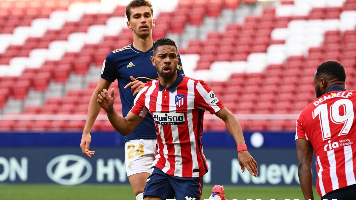 Lodi celebra su gol a Osasuna. (AFP)