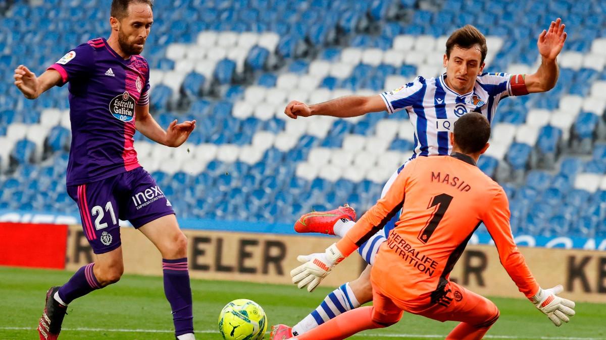 La Real Sociedad ganó al Valladolid en Anoeta. (EFE)