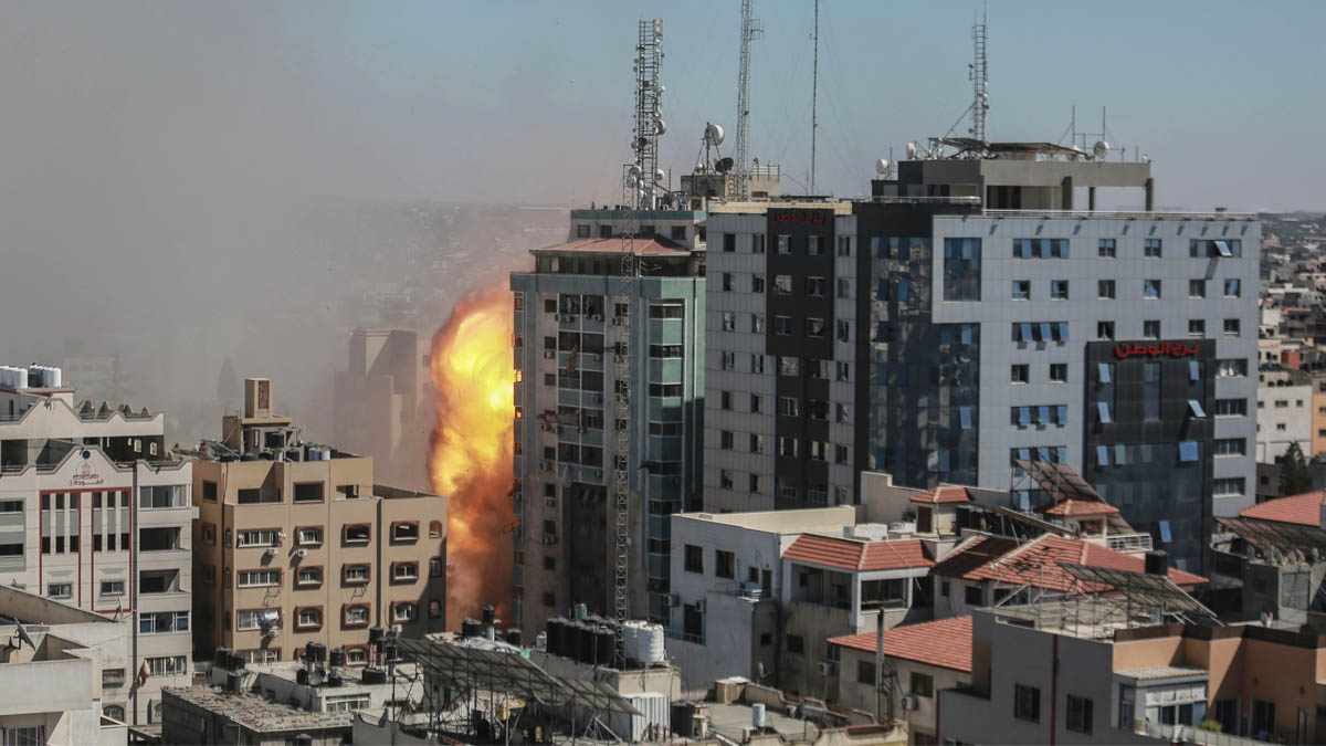 Torre bombardeada en Gaza (Foto: EP)
