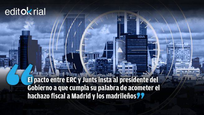 Los golpistas catalanes exigen a Sánchez la asfixia económica de Madrid