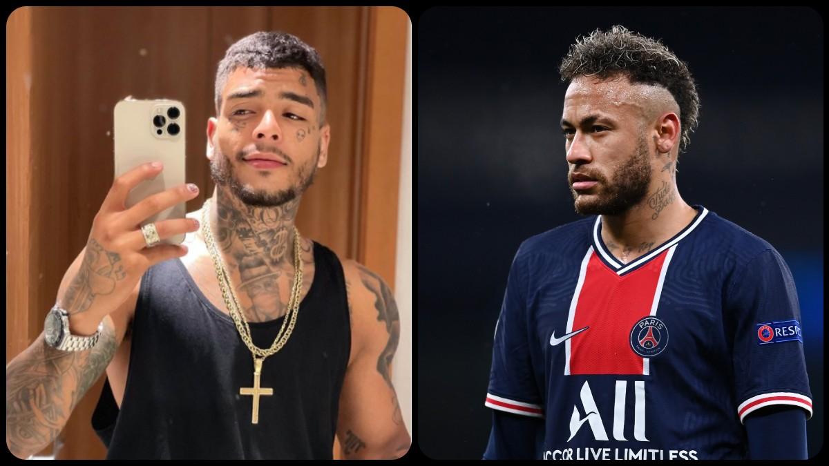 El cantante MC Kevin (izquierda) y Neymar.
