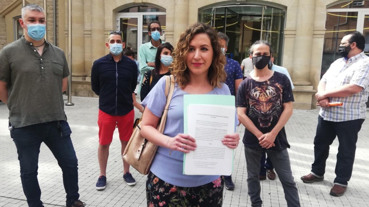 Parte de los militantes de Podemos expulsados en La Rioja.