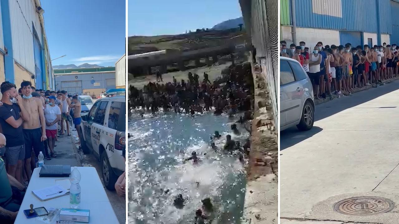 Inmigrantes llegan a nado a Ceuta procedentes de Marruecos