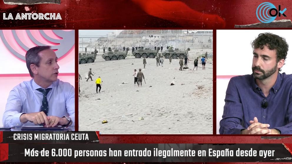 Carlos Cuesta y Alberto Sotillos en La Antorcha de OKDIARIO