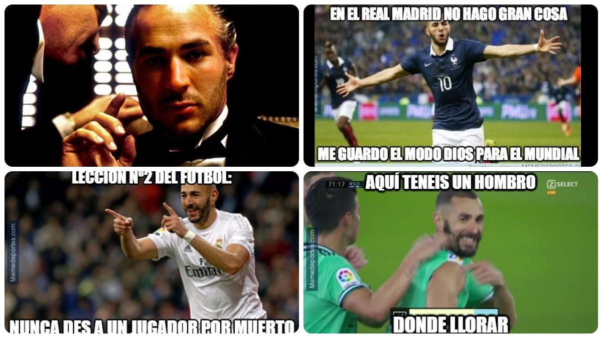 Los mejores memes de la vuelta de Benzema con Francia.